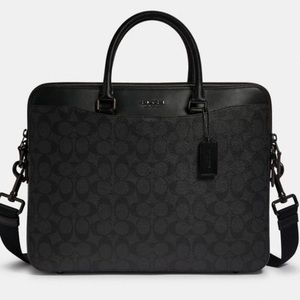 Coach Beckett Day Laptop Bag In Signature Canvas